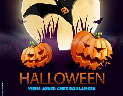 Affiche Événement Halloween Magasin