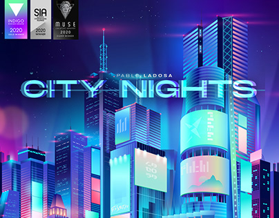 CITY NIGHTS. Illustration collection