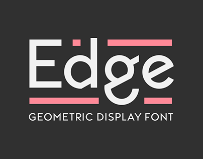 Edge: The Typeface (Work in Progress)