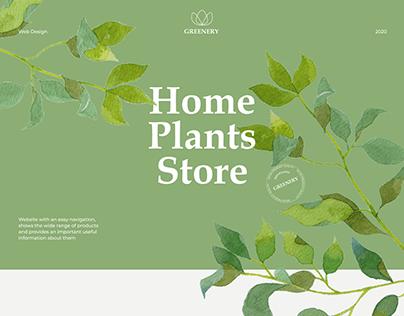 Home Plants Store, concept website