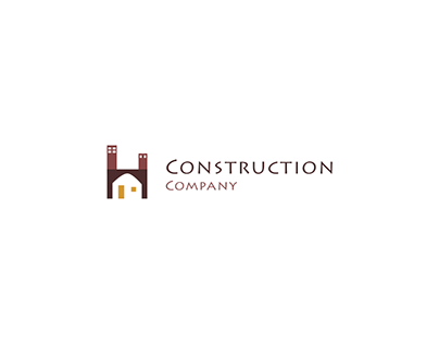 Simple construction company Logo 2019