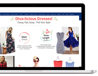 Dresses (Web Design) Paytm