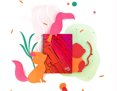 Éxito | Notebooks Papercut & Illustrated Campaign