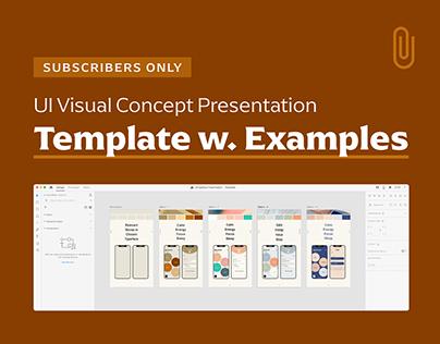 UI Visual Concept Presentation Template