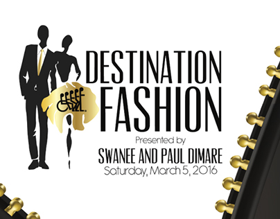 Destination Fashion 2016 event invite & RSVP card