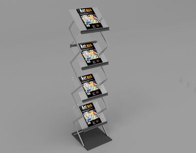Magazine Display Stand Mockup