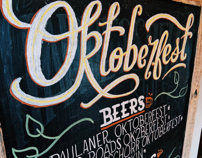 Chalk Board Sign for Oktoberfest