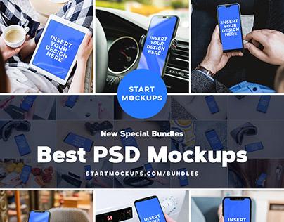 Get up to 157 PSD Mockups