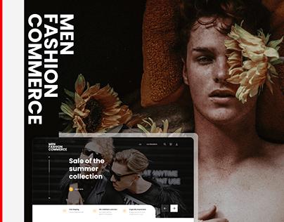 Mens Fashion Ecommerce Website UI/UX Design
