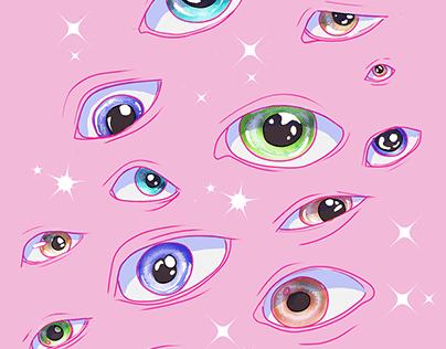 Eye Shirt Print.