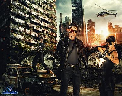 Terminator 2 - Sarah Connor and T-800