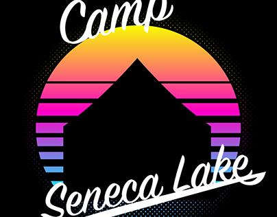 Camp Seneca Lake Retro T-Shirt Logo