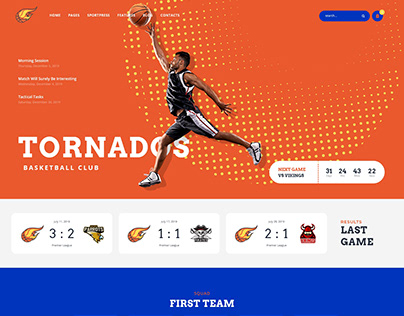 Tornados | Basketball WordPress Theme
