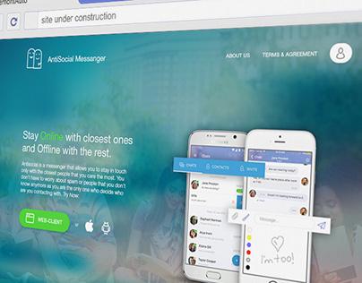 Website for Antisocial Messenger
