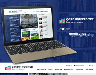 Qərb Universiteti Web Design UX/UI