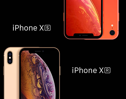 iPhone XS-XR Flat Mockup