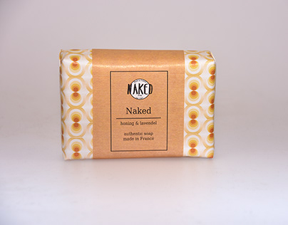 pack shot soap in selfmade packaging