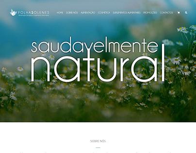 Folhas Solenes - Website Design