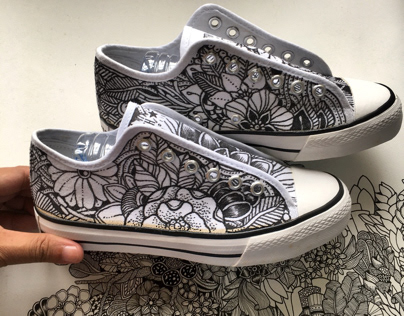 Doodled Shoes for Artline Malaysia X Marty Woods