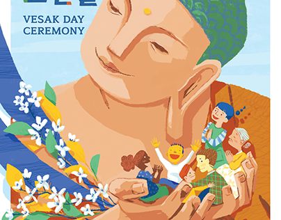 2017 Vesak Day Ceremony Poster (Children Ver)
