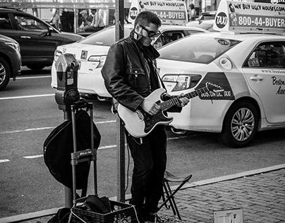 Street Performer outside Fenway Park Boston, Ma.