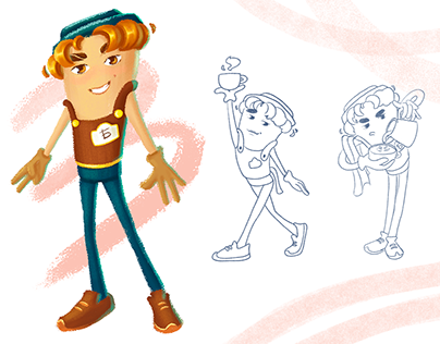 Character design for coffeehouse