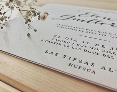 Wedding Cards - E&G