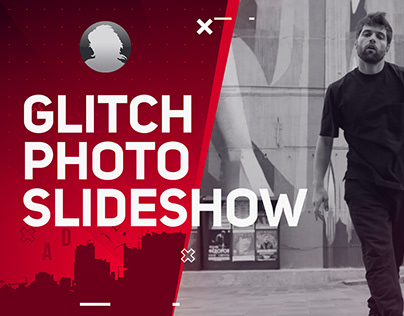 Glitch Photo Slideshow - After Effects Template