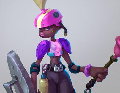 "Character Concept art ""Lula Babe"""