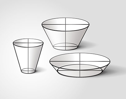 Point and Line to Plane / Tableware Design