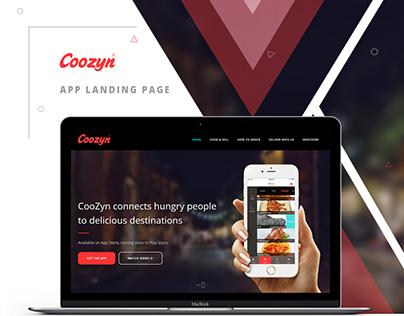 Coozyn Landing Page