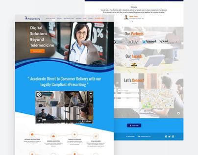 Prescribery Landing Page Design