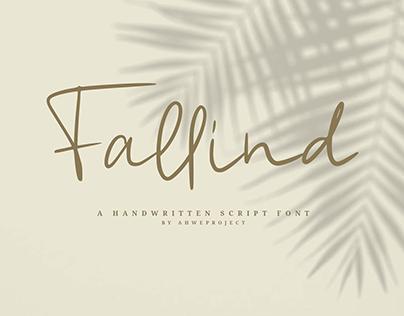 Fallind - Handwritten Script Font