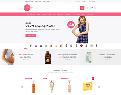 Madam10 Ecommerce UI Design