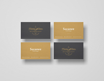 PSD Branding Business Card Mockup