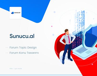 Sunucu.al Topic Design