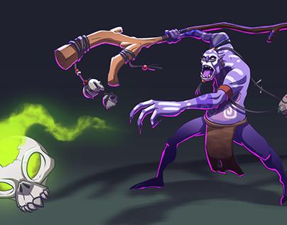 """""""Witch Doctor"""" DotA2 fanart"""