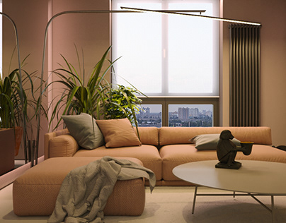 Pink apartment. First level