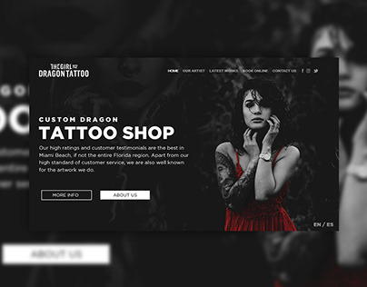 Tattoo Website Concept