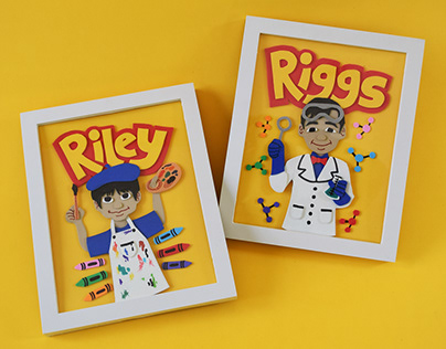 RIGGS & RILEY (foam rubber illustration)