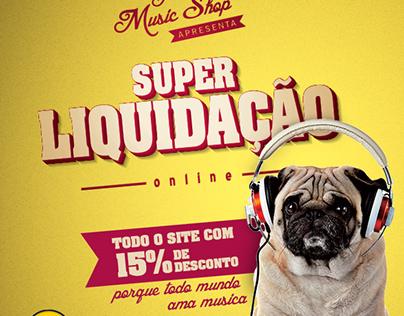 Liquidação Guitar Music Shop