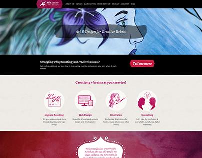 Nela Dunato Art & Design Rebrand
