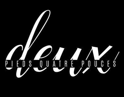 Deux Pieds Quatre Pouces Logo & Business cards