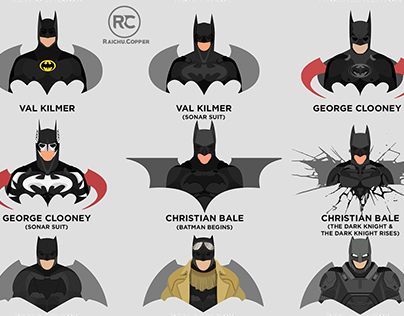 BATMAN Suits in Live Action