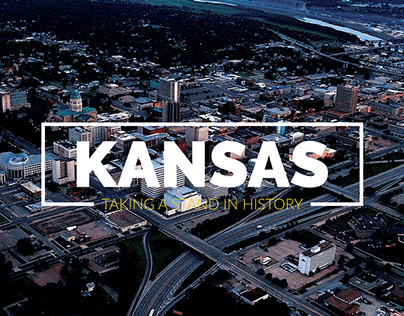 An info graphics about the state of Kansas