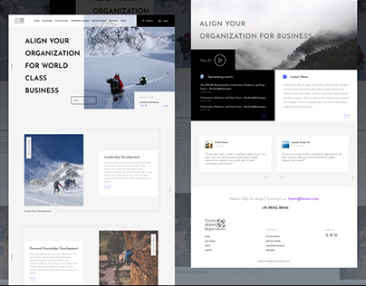 Landing page design for flat