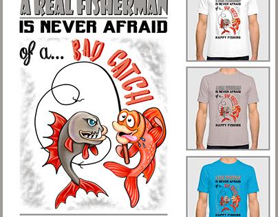 Fun T-Shirt design for REAL FISHERMEN