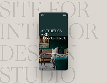 Corporate site for interior design studio