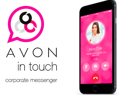 """AVON """"in touch"""". The corporate messenger concept."""