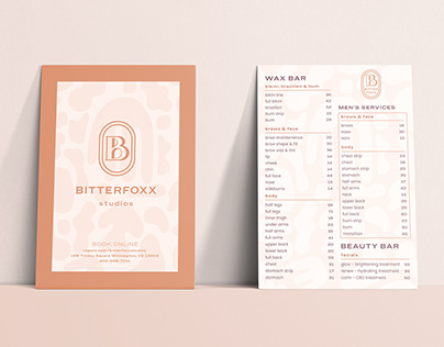 Bitterfoxx Studios Beauty Bar & Skincare Branding